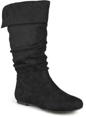 032a76413f2a Journee Collection Black Faux Suede Women s Boots - ShopStyle