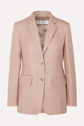 Max Mara Rosina Camel Hair And Silk-blend Blazer - Pink