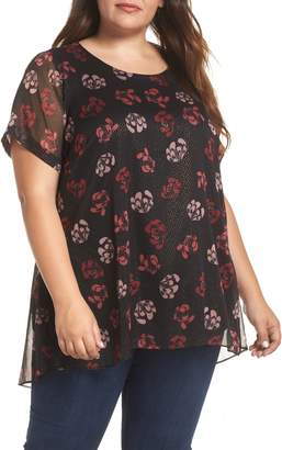 Vince Camuto Stamped Floral Tunic