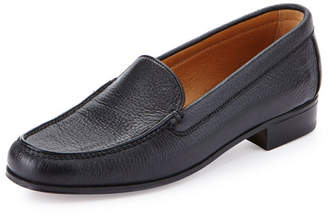 Gravati Pebbled Leather Venetian Loafer