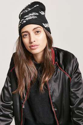 Forever 21 Anti Bad Vibes Graphic Beanie
