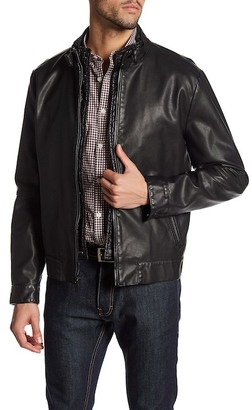 Kenneth Cole New York Full Zip Faux Leather Jacket $200 thestylecure.com