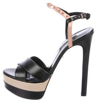 Ruthie Davis Leather Platform Sandals
