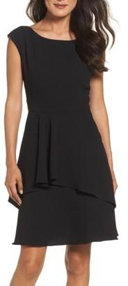 Women's Eliza J Ruffle Fit & Flare Dress $138 thestylecure.com