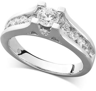Macy's Diamond Channel Engagement Ring in 14k White Gold (1 ct. t.w.)