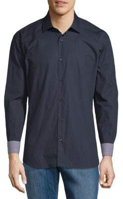 Jared Lang Cotton Contrast Cuffs Shirt