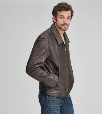 Andrew Marc MORRISON SHIRT COLLAR LEATHER JACKET