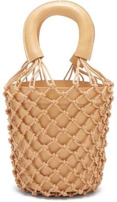 STAUD Bisset Leather Bucket Bag - Womens - Nude