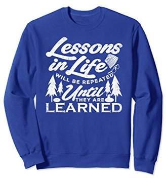 Life Lessons Teacher Gift Humor Distressed Sweatshirt