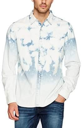 True Religion Men's Long Sleeve Pocket Woven Shirt