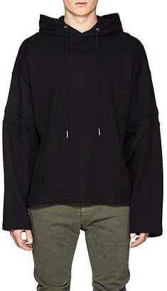 Helmut Lang Men's Distorted Arm Cotton Terry Hoodie