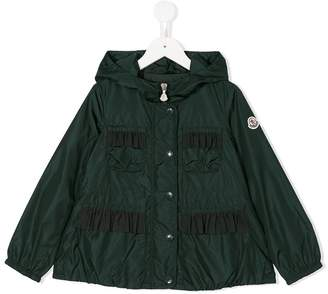 Moncler ruffled detail jacket