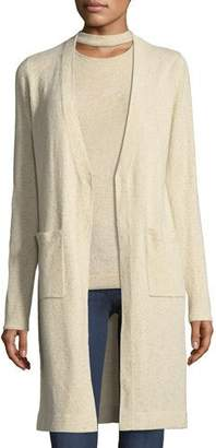 Elie Tahari Camerona Metallic-Knit Sweater