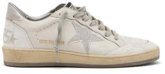 Golden Goose Ballstar Low Top Leather Trainers - Womens - White Silver