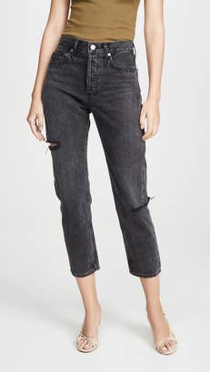 A Gold E Agolde Parker Easy Straight Jeans