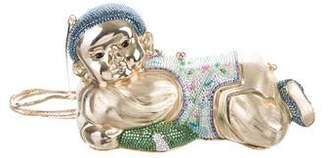 Judith Leiber Crystal-Embellished Pillow Boy Minaudière