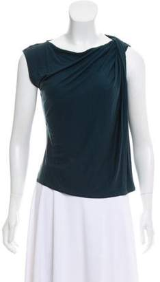 Lanvin Drape-Accented Sleeveless Top