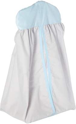 Baby Doll Bedding Solid Reversible Diaper Stacker, Grey/Blue