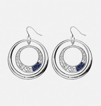 Avenue Double Filigree Stone Hoop Earrings