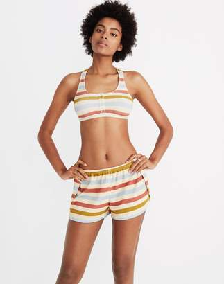 Madewell Waffle Knit Pajama Shorts in Hewitt Stripe