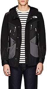 Junya Watanabe Comme des Garçons Men's Patchwork Hooded Jacket - Black