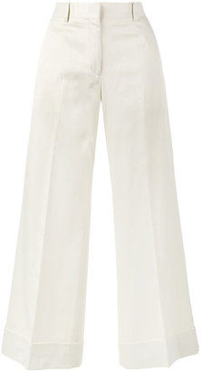 Poiretti flared cropped trousers