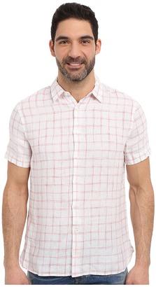 Perry Ellis Linen Check Pattern Shirt $59.99 thestylecure.com