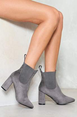 Nasty Gal Divide and Conquer Vegan Suede Ankle Boot