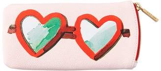 Love & Lore LOVE AND LORE SUNGLASSES CASE HEARTS PINK