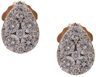 Sara Weinstock 18kt rose gold Reverie pear cluster diamond sud earrings