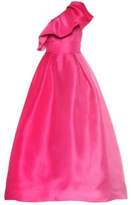 Monique Lhuillier Ruffled silk gown