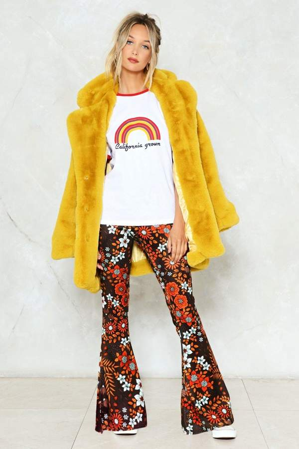 nastygal See If I Flare Floral Pants