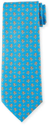 Salvatore Ferragamo Football Lion Silk Tie