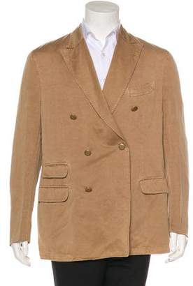 Boglioli Linen-Blend Double-Breasted Blazer w/ Tags