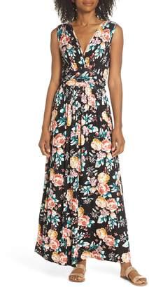 Fraiche by J Peony Deep V Maxi Dress