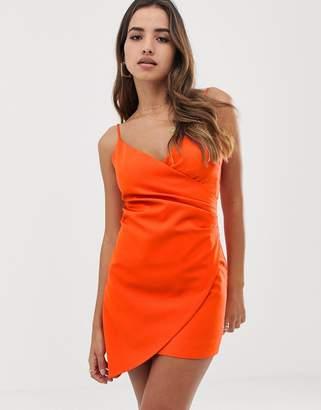 d6dcccea1239 Club L London mini asymmetric cami strap mini dress in orange