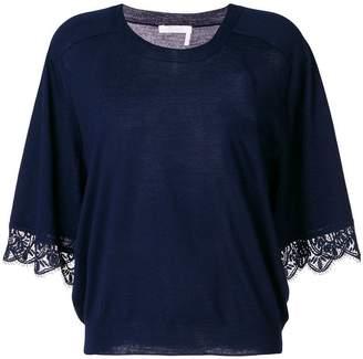 Chloé crochet detail T-shirt