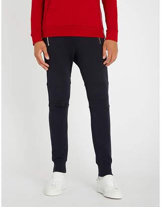 Balmain Biker-panel skinny cotton-jersey jogging bottoms
