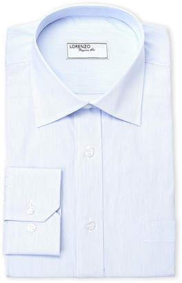 Lorenzo Uomo Blue Stripe Dress Shirt
