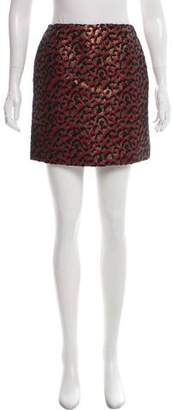 Saint Laurent Brocade Animal Print Skirt w/ Tags