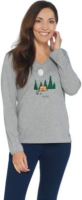 Life is Good Crusher Long Sleeve Simplify Camping Vee