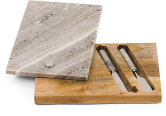 Marble Fold Out Cheese Knife Set