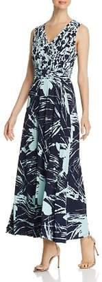 Leota Nicole Mixed Print Maxi Dress