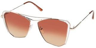Pop Fashionwear Classic Flat Lens Reflective Coating Mirror Fashion Sunglasses P4160