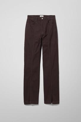 Weekday Alabama Denim Trousers - Brown