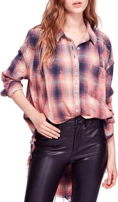 Free People Take on Me High/Low Blouse