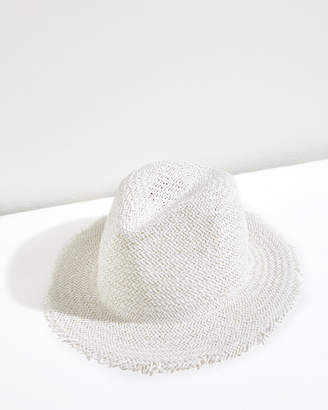 Jigsaw Frayed Edge Small Brim Fedora