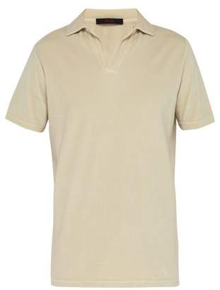 BEIGE The Gigi - Thaiti Cotton Velour Polo Shirt - Mens