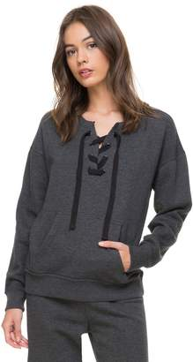 Juicy Couture Jxjc Solid Laced Fleece Pullover