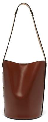 Marni Punch Leather Bucket Bag - Womens - Black Multi
